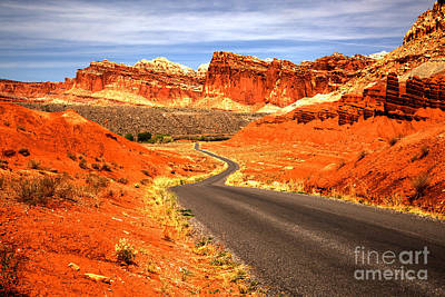 Photograph - Utah Road Of Color by Adam Jewell