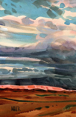 Skyscape Painting - Utah Sky by Donald Maier
