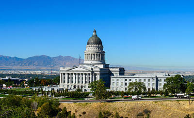 Photograph - Utah State Capitol Building by Tikvah's Hope