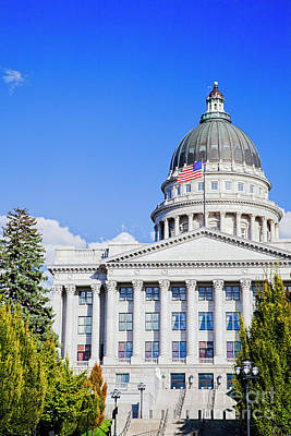 Photograph - Utah State Capitol by David Millenheft