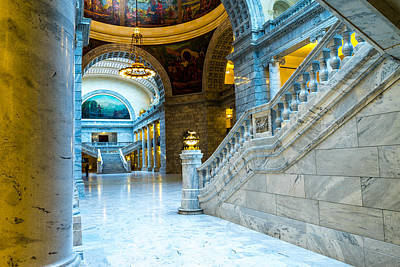Photograph - Utah State Capitol Rotunda #1 by TL  Mair