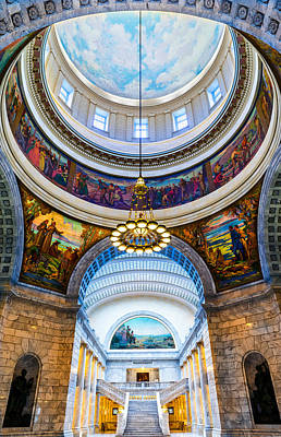 Keith Richards Royalty Free Images - Utah State Capitol Rotunda #2 Royalty-Free Image by TL Mair