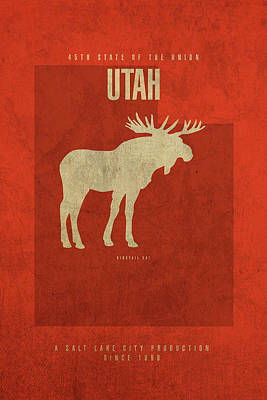 Utah State Facts Minimalist Movie Poster Art Art Print by Design Turnpike