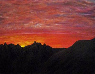 Painting - Utah Sunset by Michael Cuozzo
