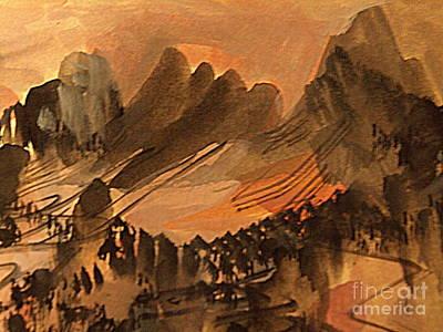 Painting - Utah Sunset by Nancy Kane Chapman