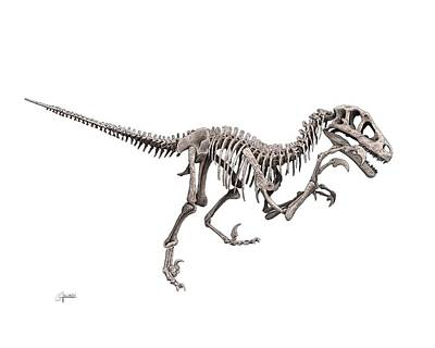 Utahraptor Art Print