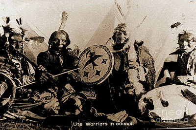 Photograph - Ute Tribe In Council by Gary Wonning