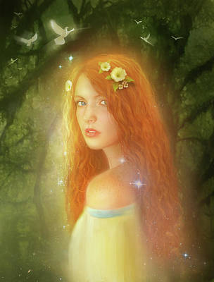 Redheads Wall Art - Mixed Media - Utherworlds Lealinnia by Philip Straub