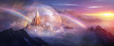 Dreams Painting - Utherworlds Unohla by Philip Straub