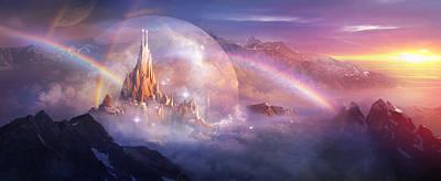Utherworlds Painting - Utherworlds Unohla by Philip Straub