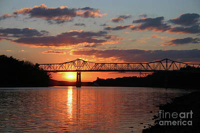 Photograph - Utica Bridge Sunset by Paula Guttilla