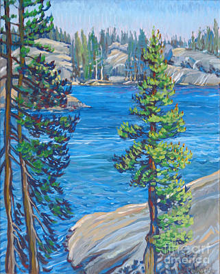 Utica Lake Point Art Print by Vanessa Hadady BFA MA