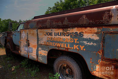 Utility Truck  Print by Larry Braun