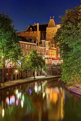 Utrecht At Night Art Print
