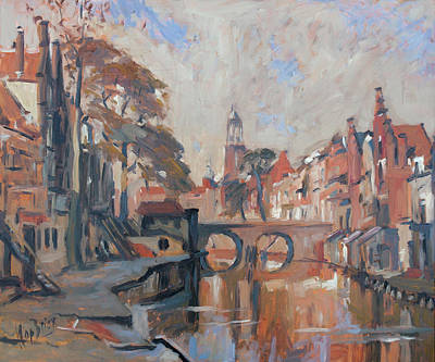 Painting - Utrecht Autumn Canal by Nop Briex