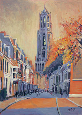 Painting - Utrecht Dom Tower by Nop Briex