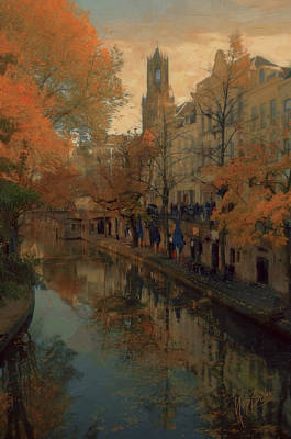 Painting - Utrecht In Autumn by Nop Briex