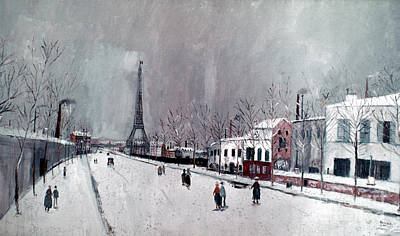 Aodcc Photograph - Utrillo: Eiffel Tower by Granger