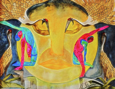 Painting - Utthita Parsvakonasana by Dee Browning
