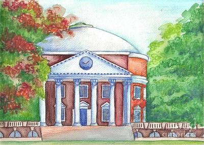 Thomas Jefferson Painting - Uva Rotunda by Ana Corrales
