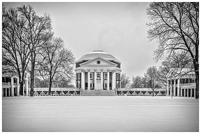 Photograph - Uva Rotunda Winter 2016 by Kevin Blackburn