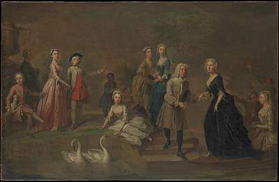 Uvedale Tomkyns Price 16851764 And Members Of His Family Original