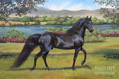 Morgan Horse Painting - Uvm Promise by Jeanne Newton Schoborg