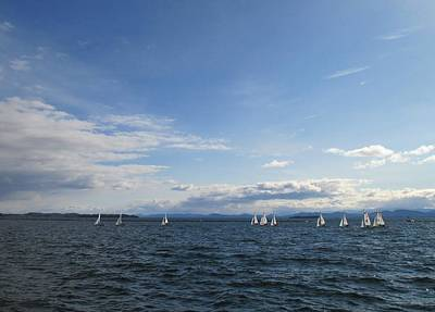 Photograph - Uvm Sailing Team One by Ishana Ingerman