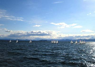 Photograph - Uvm Sailing Team Three by Ishana Ingerman