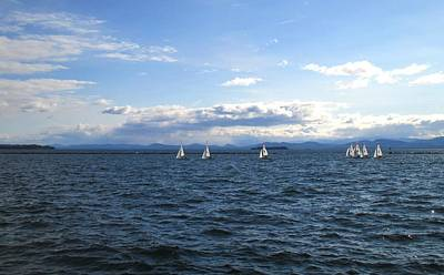 Photograph - Uvm Sailing Team Two by Ishana Ingerman