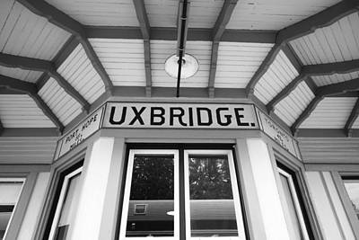 Wooden Platform Photograph - Uxbridge Station by Valentino Visentini