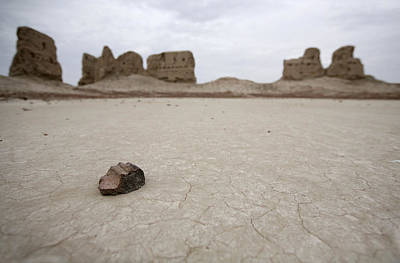 Photograph - Uzbek Pottery Shard by Marcus Best