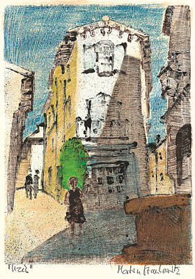 Art Print featuring the painting Uzes Provence by Martin Stankewitz