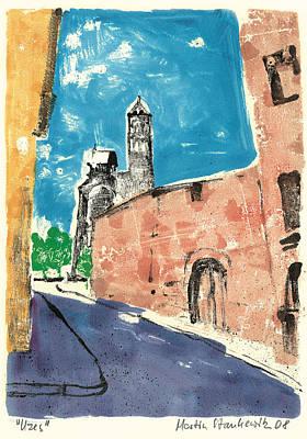 Painting - Uzes Provence Village by Martin Stankewitz