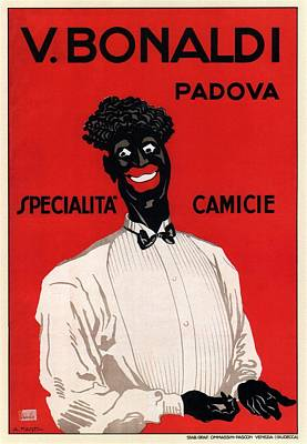 Royalty-Free and Rights-Managed Images - V Bonaldi, Padova - Specialita Camicie - Vintage Italian Fashion Advertising Poster by Studio Grafiikka