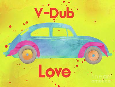V-dub Love Art Print by Terry Weaver