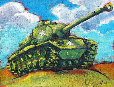 Painting - V. F. W. Tank by Les Leffingwell