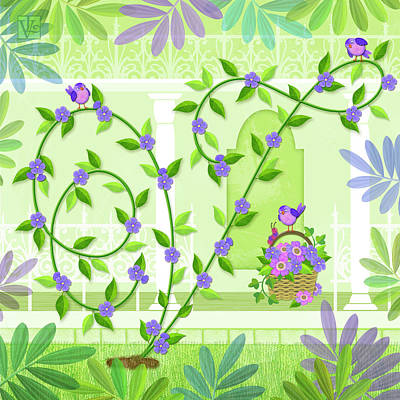 Digital Art - V Is For Vine And Veranda by Valerie Drake Lesiak