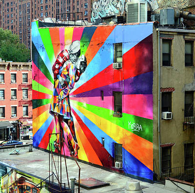 Photograph - V - J Day Mural By Eduardo Kobra # 2 by Allen Beatty