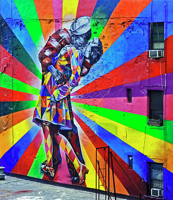 Photograph - V - J Day Mural By Eduardo Kobra # 4 by Allen Beatty