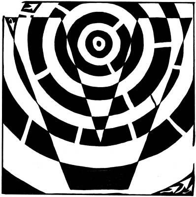 Learn To A Maze Drawing - V Maze by Yonatan Frimer Maze Artist