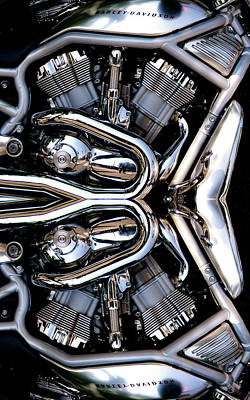 Photograph - V-rod Reflected by Mark Alesse