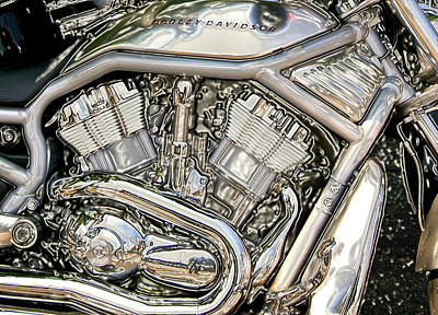 Photograph - V-rod Titanium by Mark Alesse