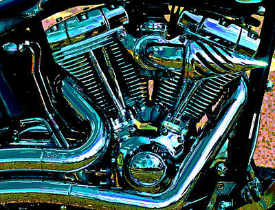 Photograph - V Twin Abstract. by Bill Jonscher