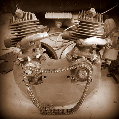 Photograph - V Twin Villiers by Guy Pettingell