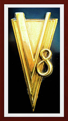 V8 Engine Hardware Vintage 1937 Art Print