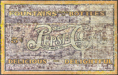 Photograph - Va Country Roads - Vintage Pepsi Cola Wall Mural - South Jefferson And Church Ave. Sw, Roanoke, Va by Michael Mazaika