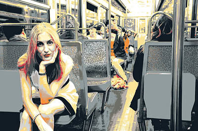Metro Art Mixed Media - va Galeries Lafayette by Shay Culligan