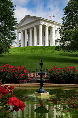 Wall Art - Photograph - Va State Capital by Cliff Middlebrook
