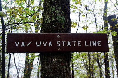 Photograph - Va / Wva State Line by Raymond Salani III